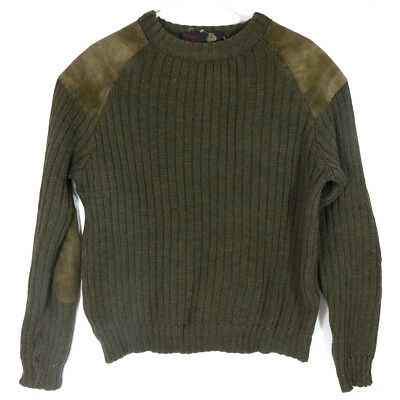 Vintage Home Knitters & Weavers Quality Green Knitted Wool Sweater (S)