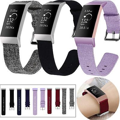 For Fitbit Charge 3 4 SE Strap Woven Nylon Watch Band Replacement Wristband