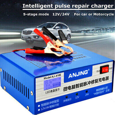 Car 12V 24V Battery Charger Automatic Intelligent Pulse Repair Lead Acid Starter