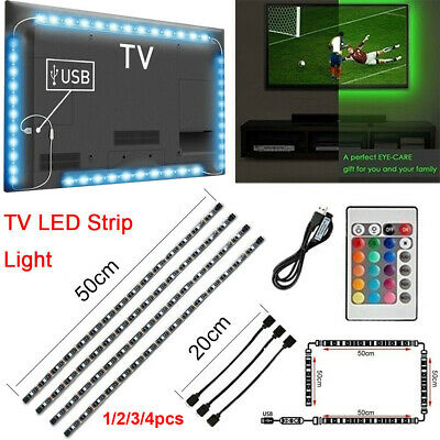 LED Strip Light USB Powered RGB Multi Color TV Backlight Lighting Remote Control