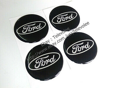 4Pcs 45mm Car Wheel Center Hup Cap Sticker Decal For Ford Fusion Escape Ranger F