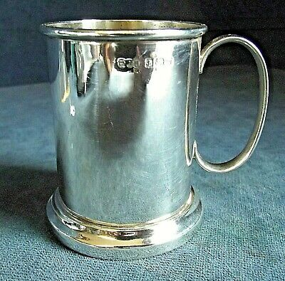 SUPERB ~ SOLID SILVER ~ 'Child's' TANKARD ~ B'ham 1921 by Houlston