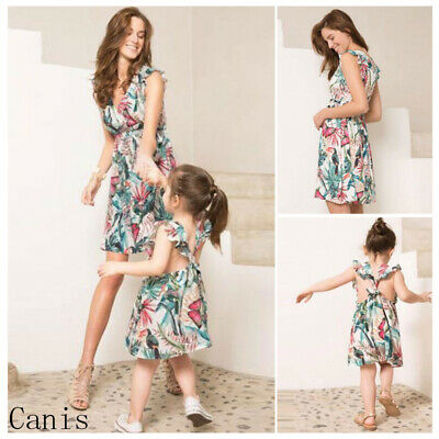 8b486a2b7071d3 US Mommy and Me Family Matching Dress Women Girl Mother Daughter Floral  Sundress