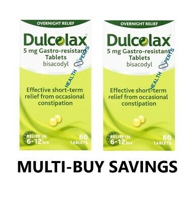 Dulcolax 5mg Gastro-Resistant Constipation Laxative Tablets 10 20 40 60 tablets