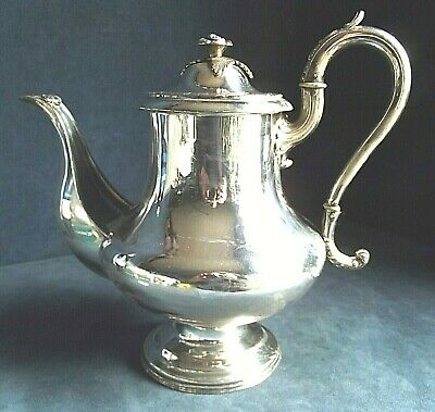 "SUPERB Large 10"" ~ GEORGIAN ~ Sheffield SILVER Plate ~ Bulbous TEAPOT ~ c1820"