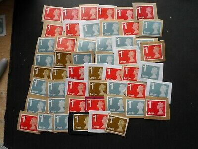 50 Unfranked on paper 1st class security large letter mix stamps