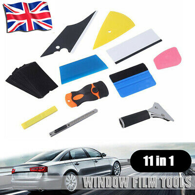 11Pc Window Tint Tools Car Wrapping Application Kit Sticker Vinyl Sheet Squeegee