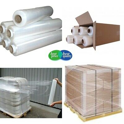 6 x 400mm  STRONG ROLLS CLEAR PALLET STRETCH SHRINK WRAP PARCEL CLING FILM *PW
