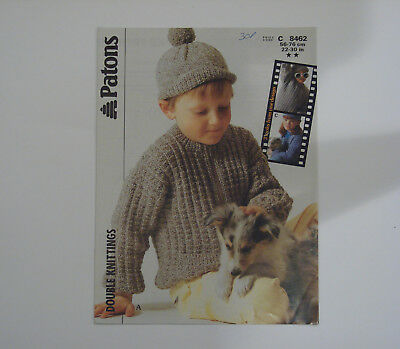 Knitting Pattern Patons DK Child's Zipped Jacket & Hat 3 Looks from 1 Design
