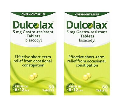 120 Tablets Dulcolax 5mg Gastro-Resistant Constipation Laxative Tablets (60 x 2)