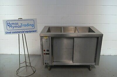 Stellex Bain marie carvery hot cupboard + tray rack 240v on wheels Free delivery