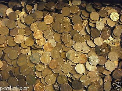 $15 10 LBS 1959-1982 P D S 95% Copper Pennies Bullion  Lincoln Memorial Cents