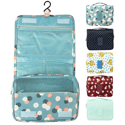 Travel Foldable Hanging Cosmetic Towel Makeup Supplies Storage Bag Portable Case
