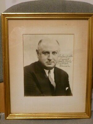 53rd  UNITED STATES POSTMASTER GENERAL JAMES FARLEY SIGNED PHOTOGRAPH IN FRAME