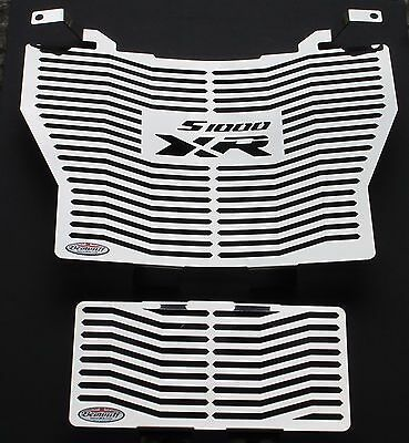 Stainless Steel Radiator /& Oil Cooler Guards Covers Black BMW S1000 XR 15-19
