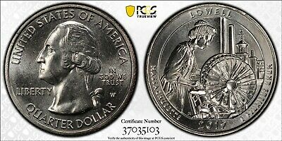2019 W First Week of Discovery Lowell National Park Quarter 25c PCGS MS65 !