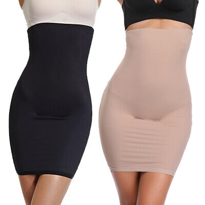 5cf232870 High Waist Control Slips Shapewear For Women Under Dress Tummy Slim Body  Shaper