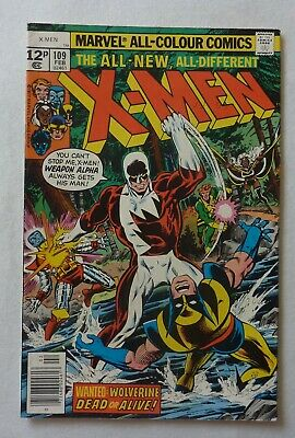 Uncanny X-Men 109 Bronze Age 1978 Marvel Comics VFN- 1st Weapon Alpha Vindicator