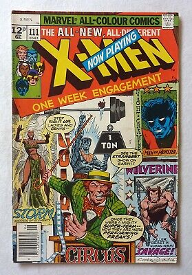 Uncanny X-Men 111 Bronze Age 1978 Marvel Comics VFN Claremont Byrne
