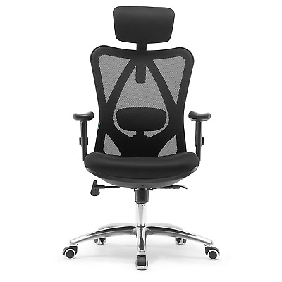 SIHOO Ergonomic Office Chair, Adjustable Headrest and Lumbar Support,High Back