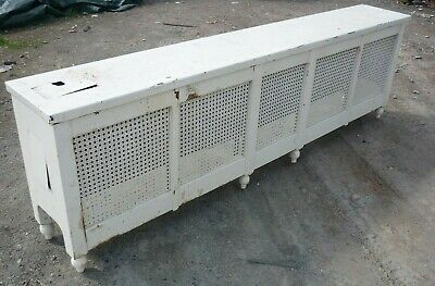 """Vintage Radiator Cover Bench style 78"""" x 12"""" w x 24"""" tall"""