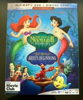 The Little Mermaid 2 Return to Sea & Ariel's Beginning Bluray/DVD DMC exclusive!
