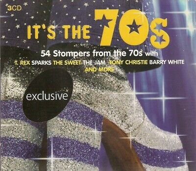 Various - It's the 70's (3xCD 2005) 54 Tracks; Sweet; 10CC; Dury; Strawbs; Quo