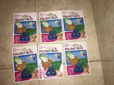 6- 3pks Munchkin Spill Proof Replacement Valves Lot For Sippy Cups 18 Total NEW
