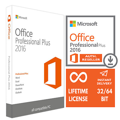 Microsoft Office Professional Plus 2016 32/64 Instant Delivery Original New Key