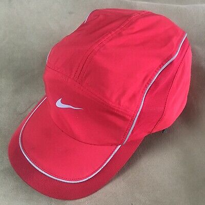 32a97295ba9 NIKE ONE SIZE Hat Red 5 Panel Dri-Fit Running Aw84 - Workout Dri ...