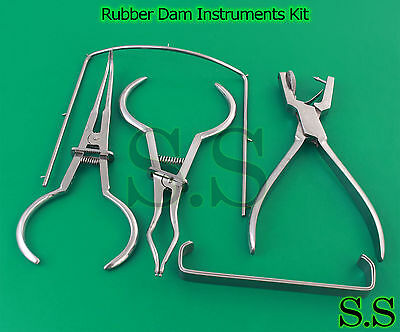 Set de 5 Piezas Ainsworth Alicates Dique de Goma Utensilio Kit Brewer Endodonti