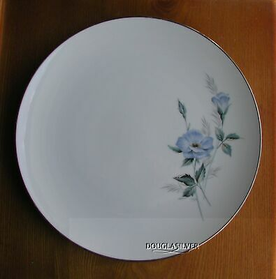 "Noritake Sylvia Fine China 10 1/2"" Dinner  Plate Blue Flower"