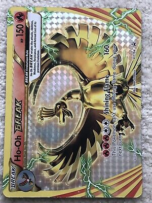 PROMO POKEMON HOLO N° XY154 HO-OH BREAK 150 HP Attack 160