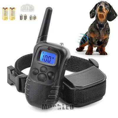 Waterproof 1000Yard Electric Shock Training Collar Pet Trainer W/ Remote 4 Modes
