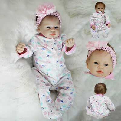 55cm GIFT Reborn Girl Doll Cute Baby Dolls Toddler Toy Silicone Infant + Clothes