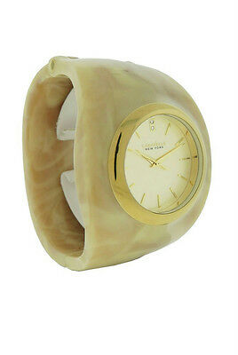 Caravelle New York 44L135 Women's Round Clear Stone Analog Taupe Bangle Watch