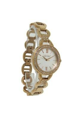 Caravelle New York 44L163 Women's Round Analog Clear Stone Roman Numeral Watch