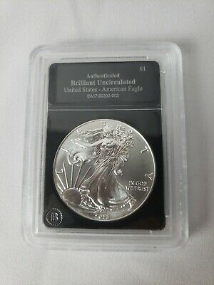 2013 Authenticated Brilliant Uncirculated American Eagle Silver Dollar