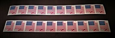 * LOT OF 20 USPS Forever Stamps * Star Banner Flag Heart Postage Coil Sheet USA!