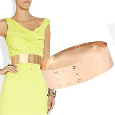 Women Belt Fashion Silver Wide Plate Fashion Gold Metal Plate Mirror Style YO