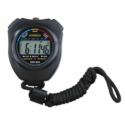 Digital Chronograph LCD Display Electronic Stopwatch Handheld Mini Time Counter