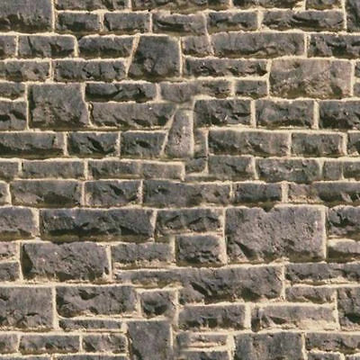 #  10  SHEETS   BRICK stone wall 21.1x30cm 1/32  Embossed BUMPY landscape paper