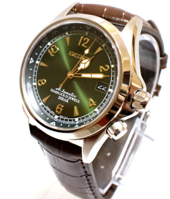 New SEIKO SARB017 Mechanical Alpinist Automatic Men's Leather Watch NO BOX
