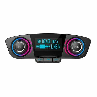 Bluetooth Handsfree Car FM Transmitter Modulator Audio USB Music Player  KS