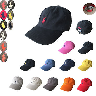 10912d2b9af NWT Polo Cap Baseball Cotton Strap Pony Classic Adjustable Men   Women Golf  Hat