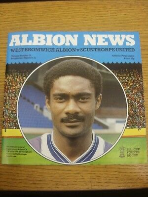26/01/1984 West Bromwich Albion v Scunthorpe United [FA Cup] . Footy Progs are p
