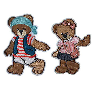 Embroidered Iron On Patch Animal Bear Sew On Applique Clothing Badge New