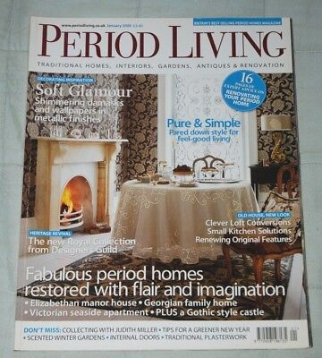 Vintage PERIOD LIVING Magazine January 2009 Traditional Homes, Antiques, Gardens