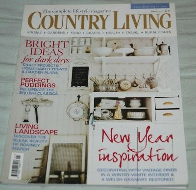 Vintage COUNTRY LIVING Magazine, January 2011 - New Year