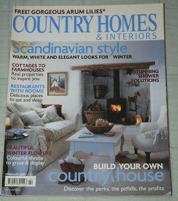 Vintage COUNTRY HOMES & INTERIORS Magazine, February 2007